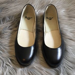 Dr Martens Marie Black Leather Flats LIKE NEW